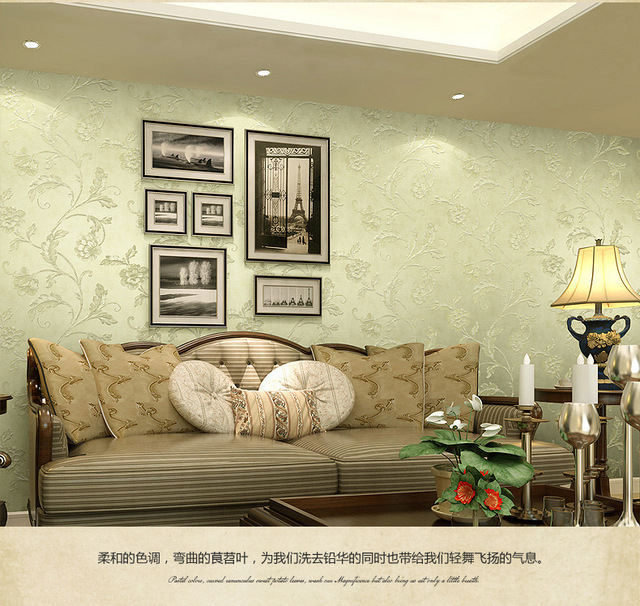 ZXqz 249  3D SIMPLE Wallpaper Luxury Flocking Non-woven Wall Covering Decoration for Living Room Bedroom wall s