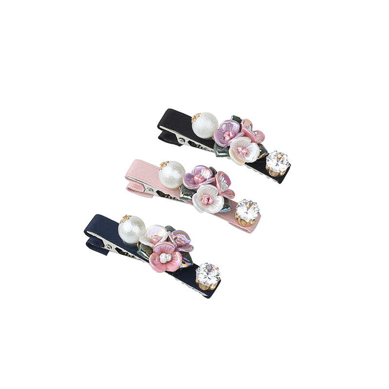 Indian Wedding Bridal Hair Accessories Jewelry Spring Hairpins Femme Rose Flowers Pearl Hair Clip Barrettes For Women Decoration
