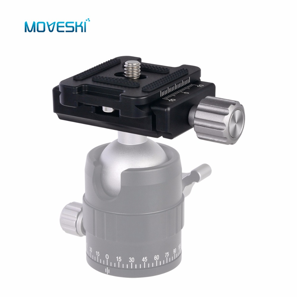 Moveski DC-34 Quick Release Plate 1/4 Screw for Arca-Swiss Standard QR Tripod Head