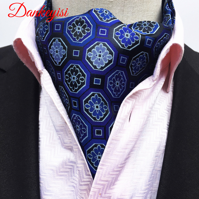 DANKEYISI High Quality Fashion Luxury Silk Printing Men Scarf Polka Dot Scarves Suit England Jacquard  Man Business Scarf