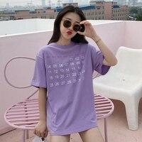 Frühling Sommer T-shirt Top Frauen Kleidung Koreanischen Stil Ulzzang Harajuku Digitale Printed Kurzarm T-shirt Grundlegende T-shirts