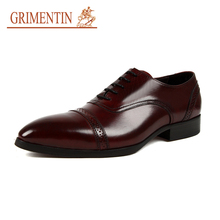 GRIMENTIN italian business shoes black brown formal shoes man