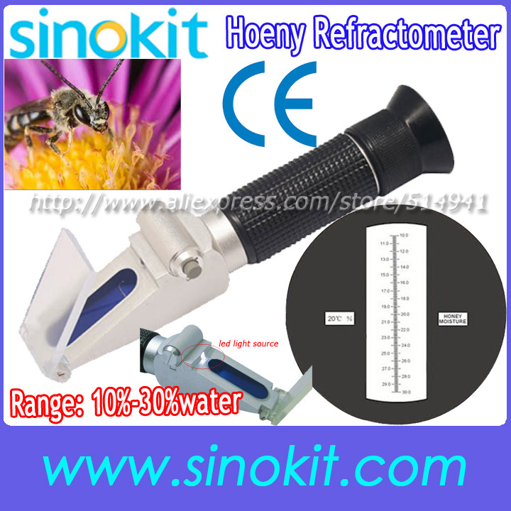 Free Shipping LED Lighted Cheaper Honely 10%-30%water Brix Refractometer - ZGRB-30ATC [randomtext category=