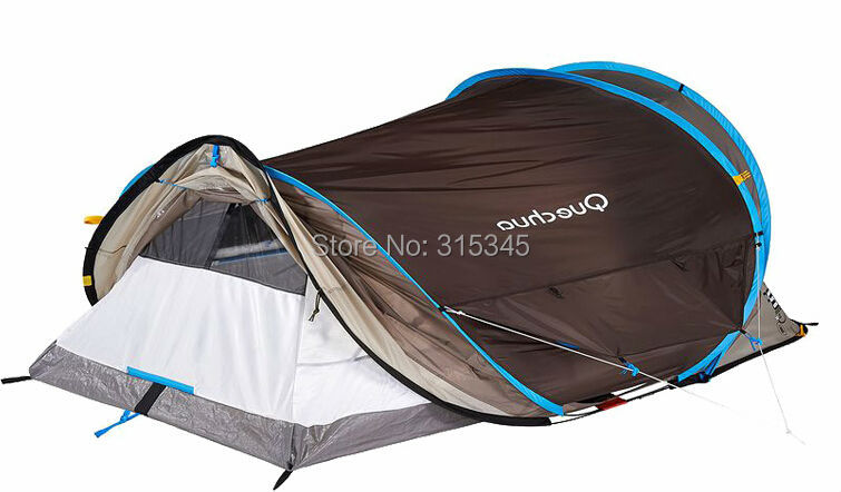 Quechua Waterproof Pop Up C&ing Tent 2 Seconds XL AIR III 3 Man Double Lining-in Tents from Sports u0026 Entertainment on Aliexpress.com | Alibaba Group  sc 1 st  AliExpress.com & Quechua Waterproof Pop Up Camping Tent 2 Seconds XL AIR III 3 Man ...
