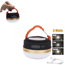 Super Heldere Draagbare Waterdichte Camping Lantaarn Night Light 3W 5 Modi Led Camping Licht Outdoor Nood Lamp Warm Wit HOT(China)