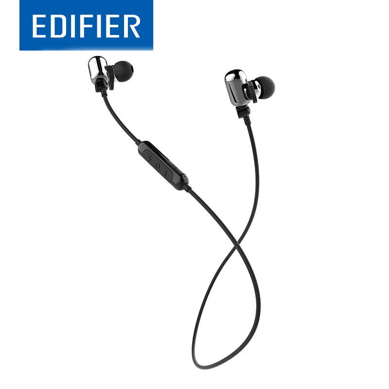 EDIFIER W293BT In-Ear Bluetooth Earphone Noise Isolation Sports Bass Stereo Earphone Apt-X IPX7 With Mic For A Mobile Phone kz zs1 supr bass stereo sound music earphone noise cancelling earphone in ear style wired earphone with mic for mobile phone