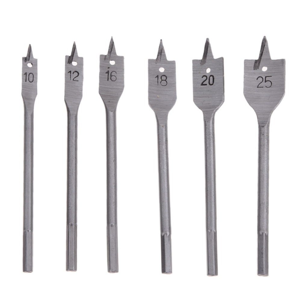 6PCs Wood Drill Bit Set Hole Saw Cutter Woodworking Tools for Wood  Power Tools Trilogy woodworking drill titanium / woodworking 4pcs spiral flute step drill bit set hole cutter for wood power tools with box wood drilling high quality power tools