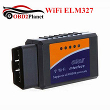 WiFi ELM327 OBD2 Scanner Wireless Auto Scanner Adapter ELM 327 WIFI OBDII Car Diagnostic Tool Fast Shipping