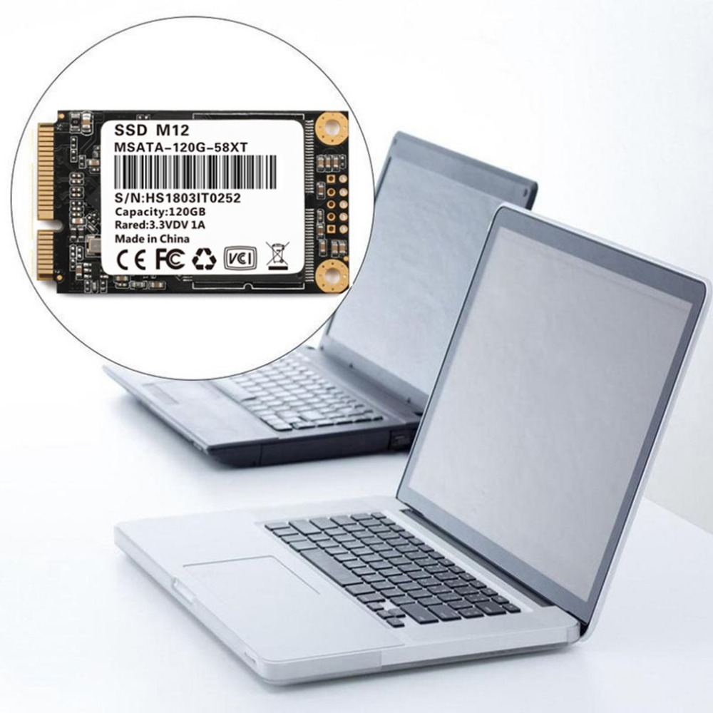 Hot Sale 120GB 6Gb/s SSD-MSATA Hard Disk Drive For Desktops Notebooks Ultrabook 3.5mm Thickness Wear Leveling Technology HDD