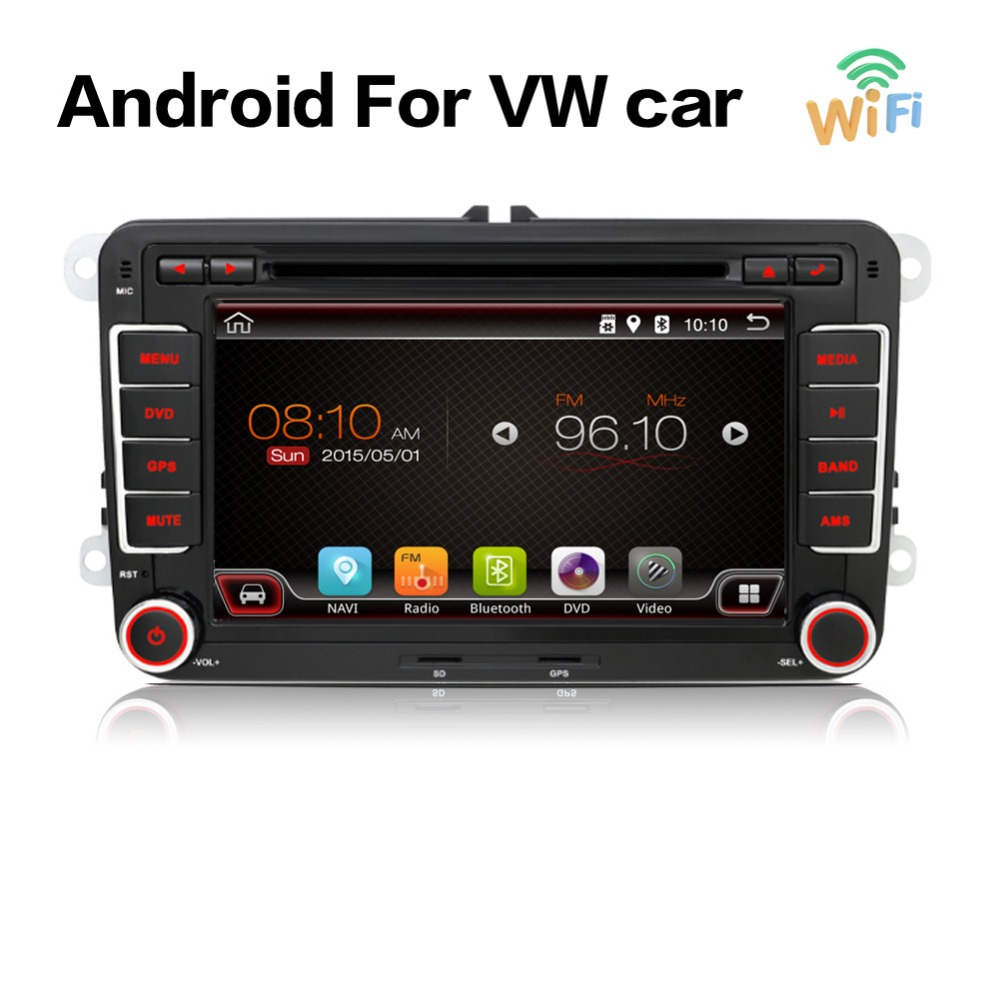 android 6 0 car dvd vw gps navigation wifi bluetooth radio. Black Bedroom Furniture Sets. Home Design Ideas