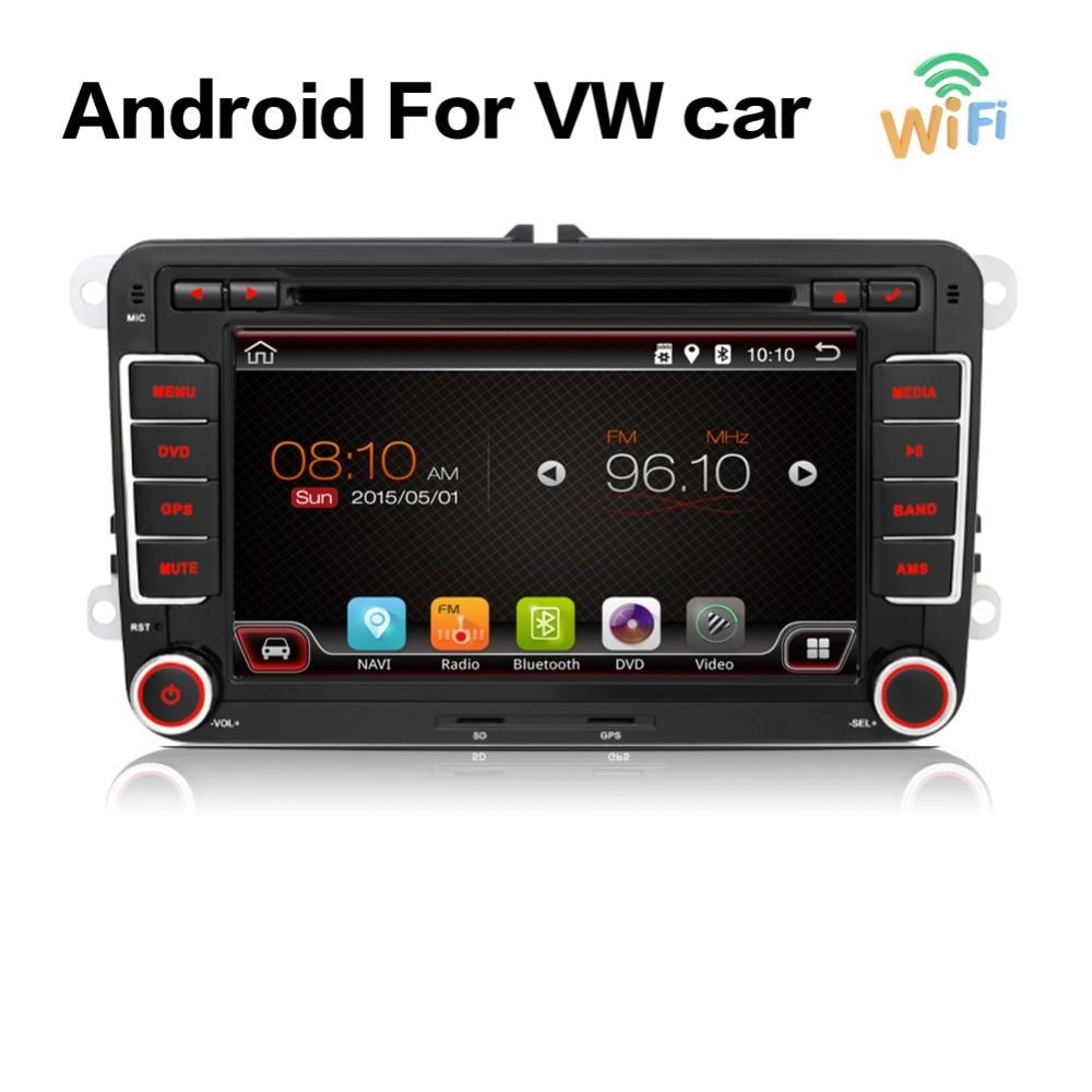 android 7.1 car dvd vw gps navigation Wifi+Bluetooth+Radio autoradio 2 din for Volkswagen GOLF 4  5 6 POLO PASSAT JETTA TIGUAN