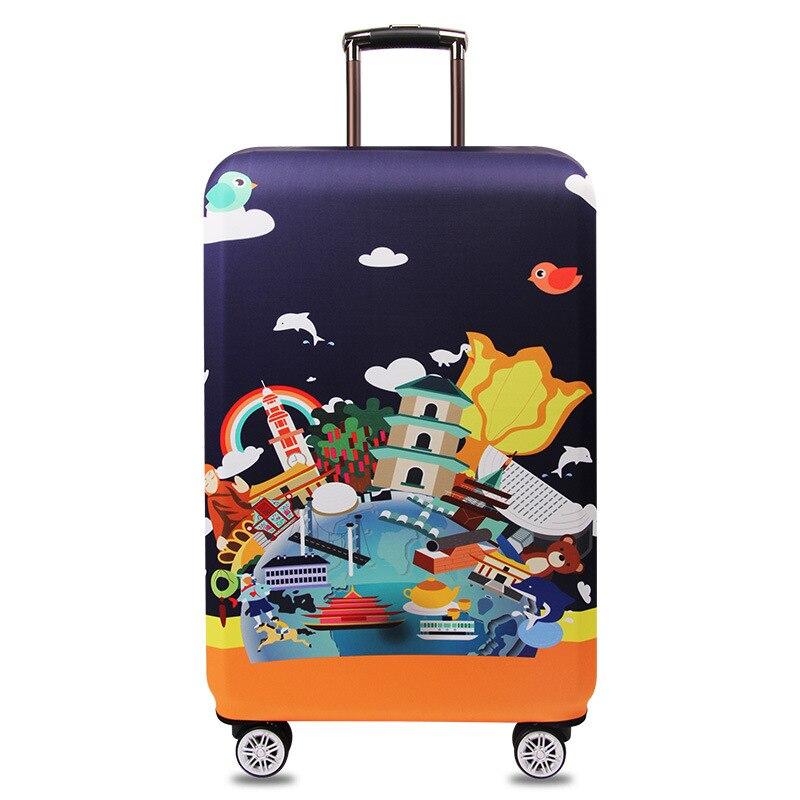 OKOKC Πολύχρωμο σκούρο κάλυμμα βαλίτσας - Αξεσουάρ ταξιδιού - Φωτογραφία 5