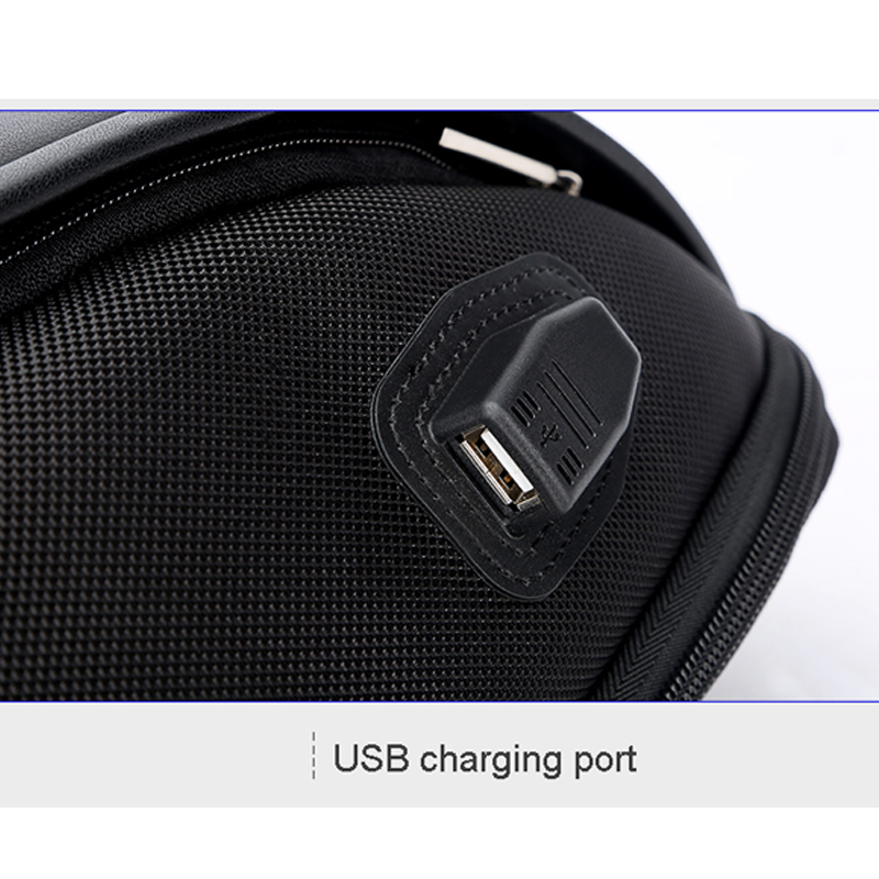 Image 3 - BOPAI Shell Shape Business Men's Office Work Backpack USB Charge Cool Male Leather Daypack Backpack Men's Shoulder Bags for Work-in Backpacks from Luggage & Bags
