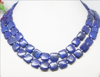 Elegant Natural Square Blue Lapis Lazuli White Cultured Spacers Pearl Beads Necklace Women High Quality 36inch