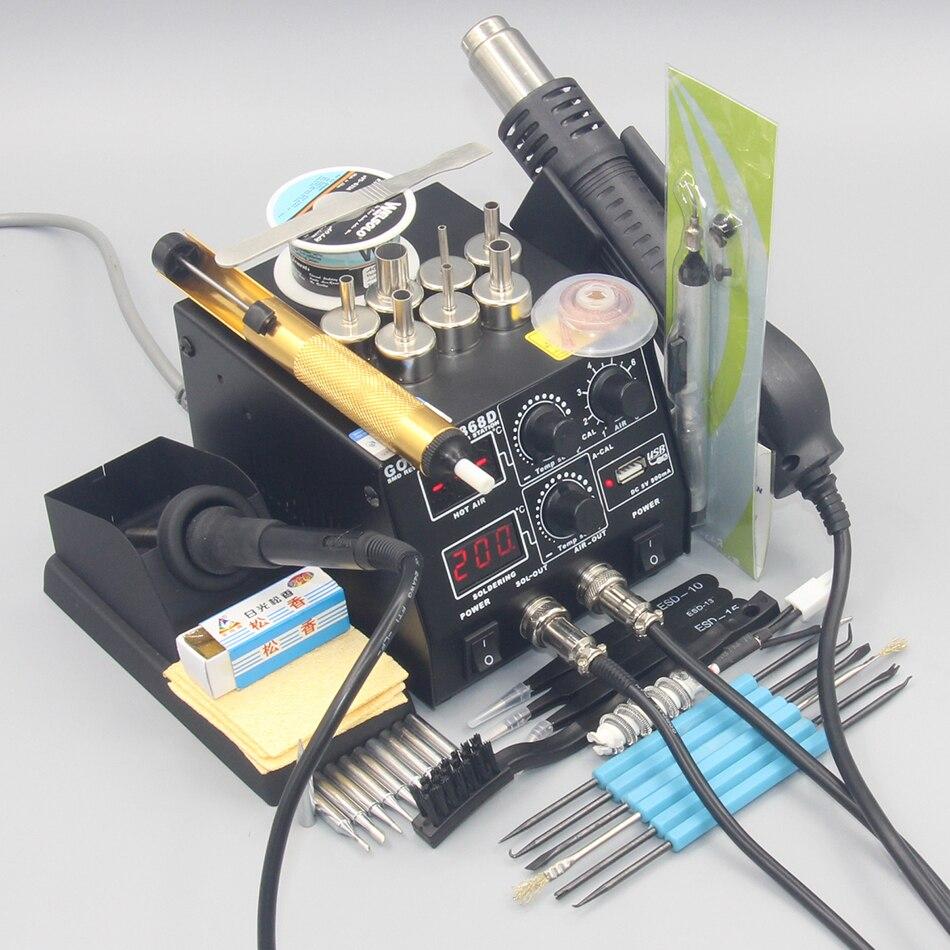 GORDAK 868D 2 In 1 500W Soldering Station SMD Rework Station Hot Air Gun Electric Solder Iron For Welding Repair Tools
