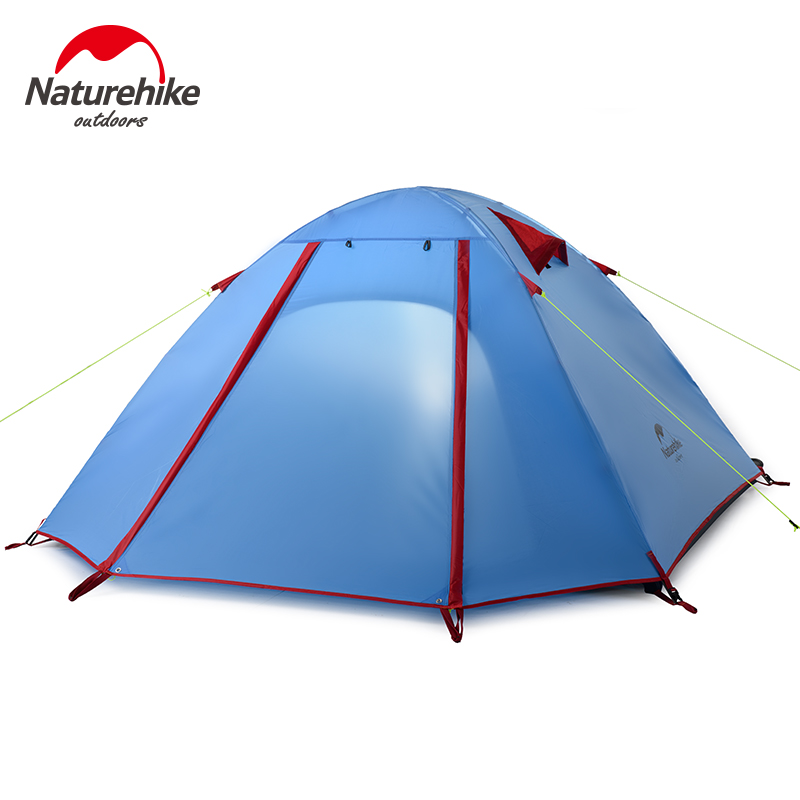Naturehike Factory Store Field trips outdoor 2-3-4 people camping tent double layer wind rain proof aluminum rod tent alpika 3 4 person 2 layer 1 bedroom 1 living room anti rain wind proof frp rod party hiking fishing beach outdoor camping tent