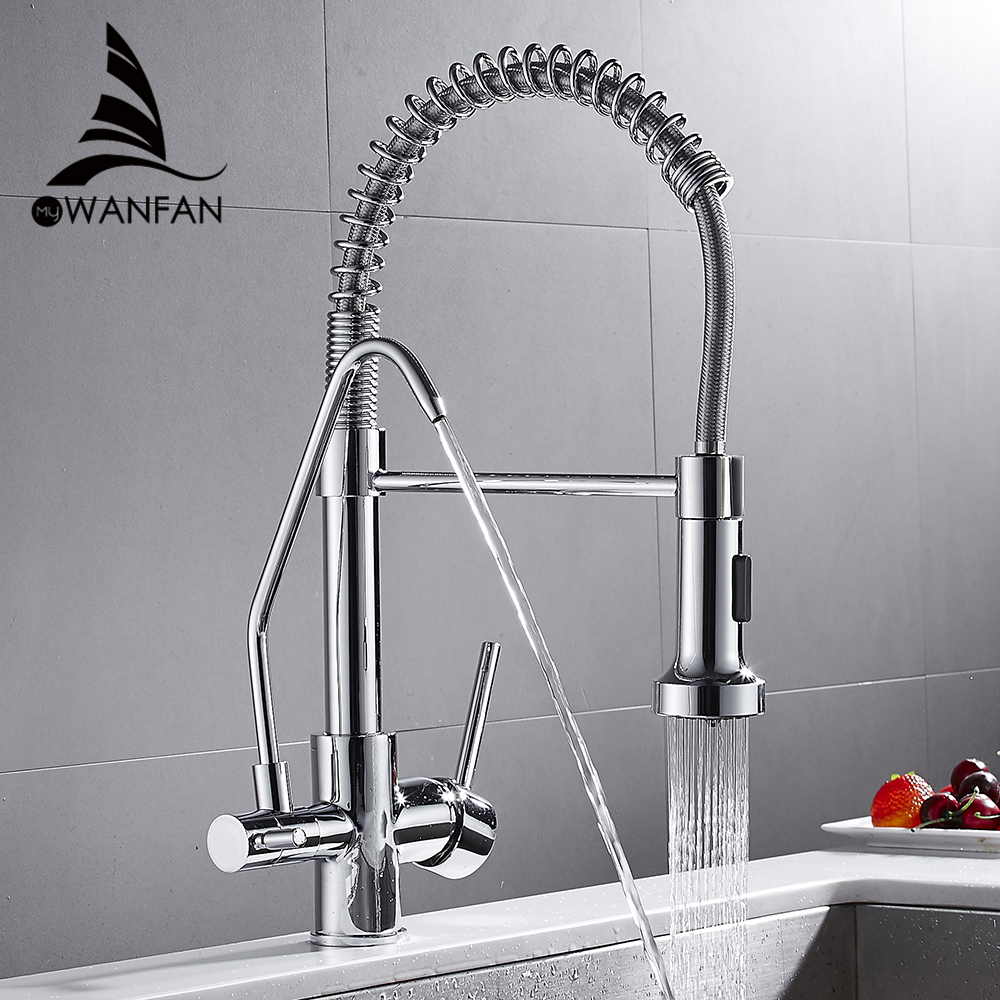 Kitchen Faucets torneira para cozinha de parede Crane For Kitchen Water Filter Tap Three Ways Sink Mixer Kitchen Faucet WF-0192 цена