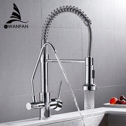 Keuken Kranen torneira para cozinha de parede Kraan Voor Keuken Water Filter Tap Drie Manieren Sink Mixer Keuken Kraan WF-0192