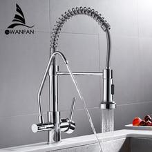 Mitigeur avec filtre à eau pour la cuisine, evier mélangeur, robinet de cuisine à trois voies WF 0192