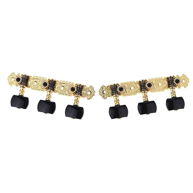 SEWS Alice AOS-020B3P 1 Pair Gold-Plated 3 Machine Head Classical Guitar String Tuning Keys Pegs