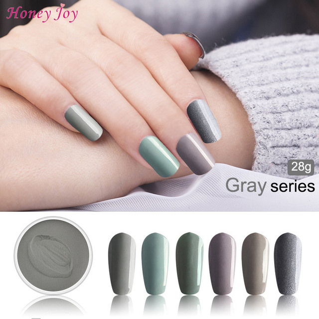 Fine 28g/Box Elegance Grey Dip Powder Nails Dipping Nails Get