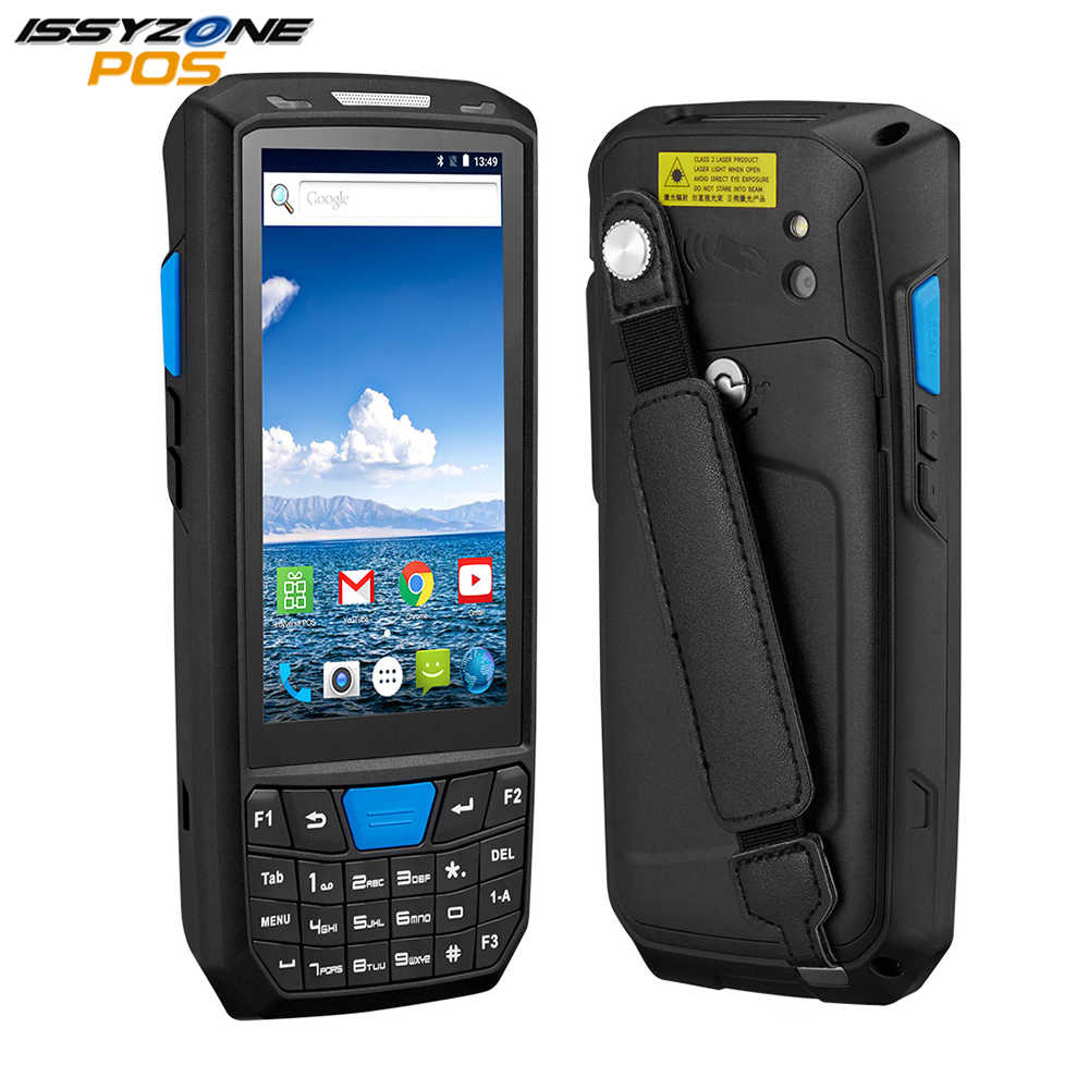 Issyzonepos Robuuste Pda Android 8.1 Handheld Pos Terminal 1D 2D Barcode Scanner Ondersteuning Draadloze Wifi Bluetooth Gps Magazijn Pda