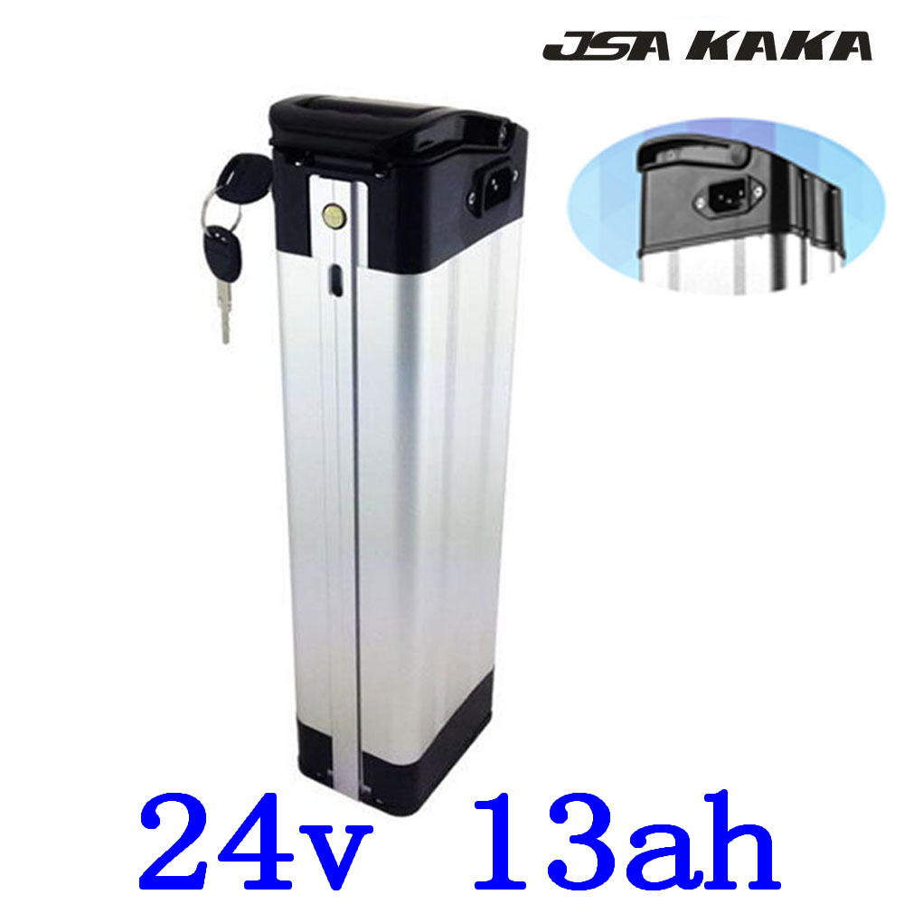 24V 250W 350W Ebike Battery 24V 10Ah 13Ah 15Ah Silver Fish Battery Pack 24V 13AH Electric Bicycle Battery With 29.4V 2A Charge