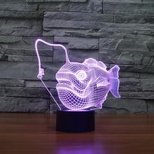 Fish Touch 3d led Lamp Bedside Children's Decoration Creative Led Night Light Luminaria Led Usb Kids Lamp