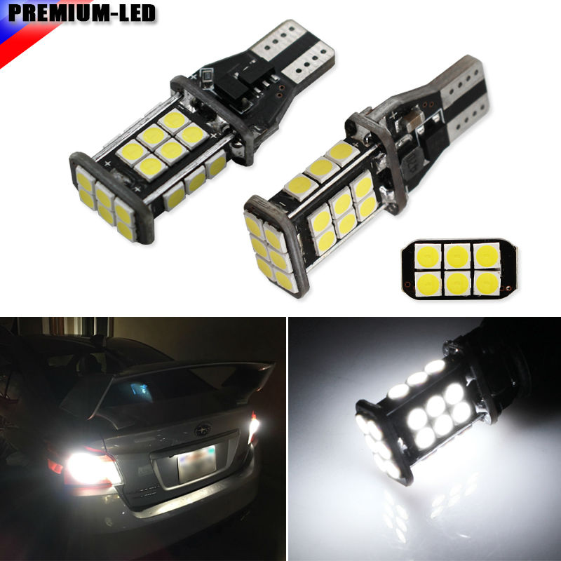 2pcs New Upgrade Extremely Bright High Power Canbus SMD3030 912 921 T15 W16W Car LED Back-up Light Auto Reverse Lamp Bulb 2pcs t15 led bulbs canbus obc error free auto 921 912 w16w back up reverse lights car lamps 18 smd 3030 xenon white d030