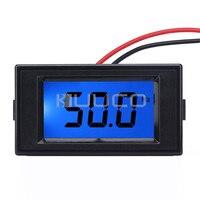 5 PCS/LOT Digital Meter AC 110V 220V 80~250V Digital Frequency Meter 10 199.9Hz Frequency Monitor Blue LCD Frequency Panel Meter