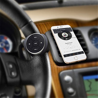 Wireless Bluetooth Media Remote Steering Wheel Remote Mobile Music Play Control For Car Motorcycle Bike Handlebar