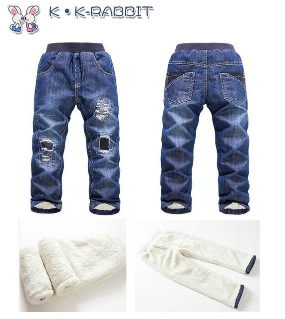 Los pantalones vaqueros de invierno moda Jeans rotos para los niños ...