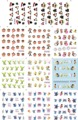 Large(1Lot=11Pcs Design)BLE1797-1807 Water Transfer Nail Art Stickers Decal Lovely Cartoon Decoration Tattoos DIY Tip Nail Tools