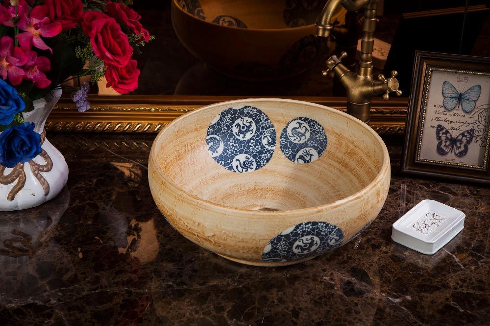 chinese Jingdezhen Art Counter Top ceramic traditional basin bowls (1)