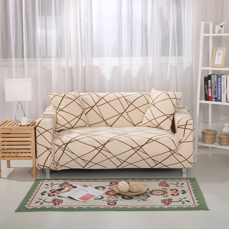 Elastic Slipcovers Sofa Universal Sofa Cover Cotton Stretch Sectional Couch Corner Cover Sofa Cover for living room pets 1PC-in Sofa Cover from Home & Garden