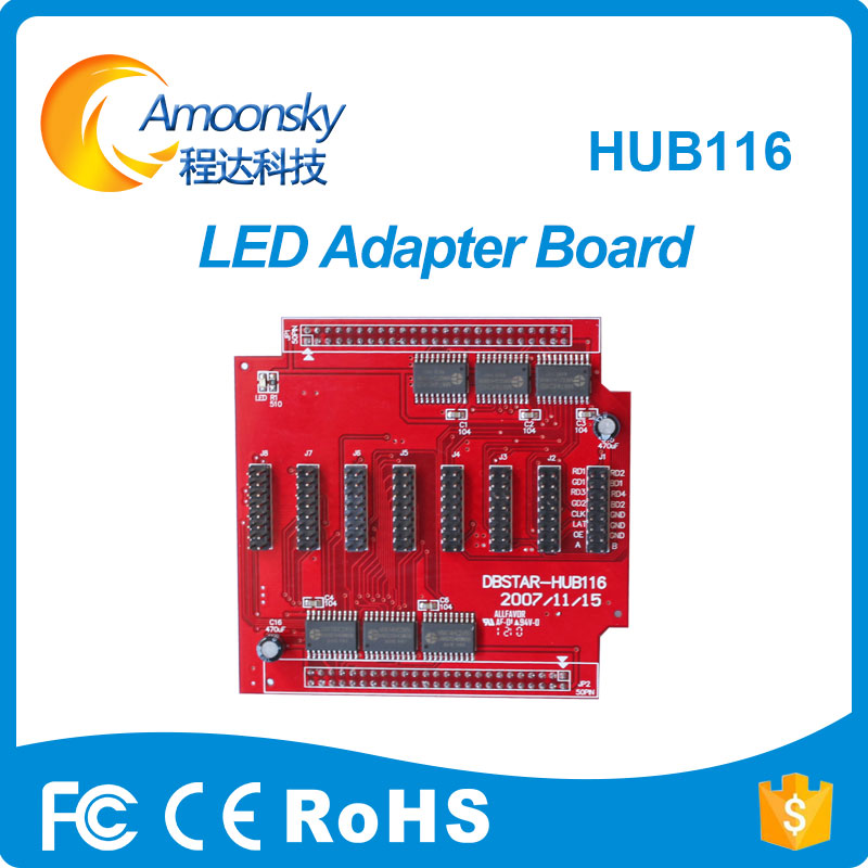Hub116 Pinboard Led Adapter Board Support Led Receiving Card For Led Die Casting Cabinet
