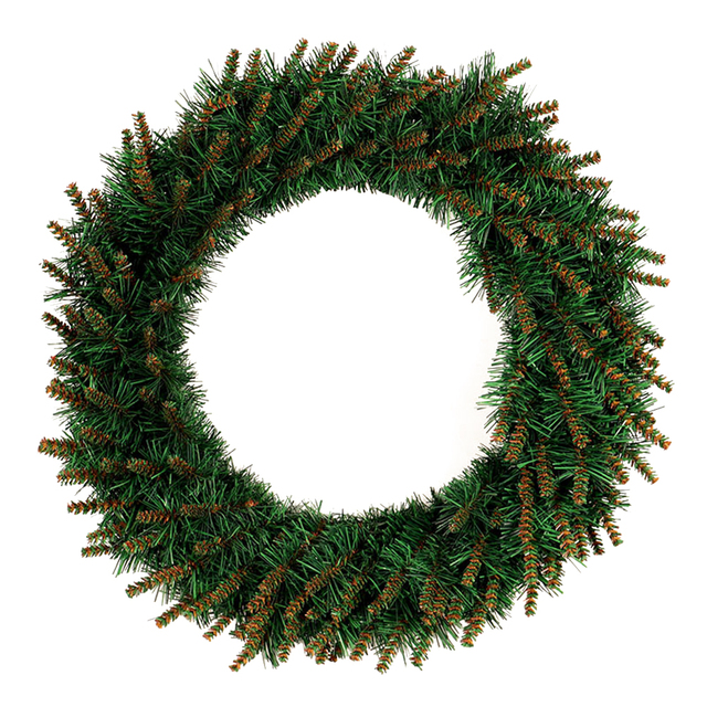 Us 13 01 14 Off 1pcs Christmas Wreath Warm Color Shiny Led Light Garland Wall Ornament For Front Door Showcase Party Decor Shopping Mall Outdoor In