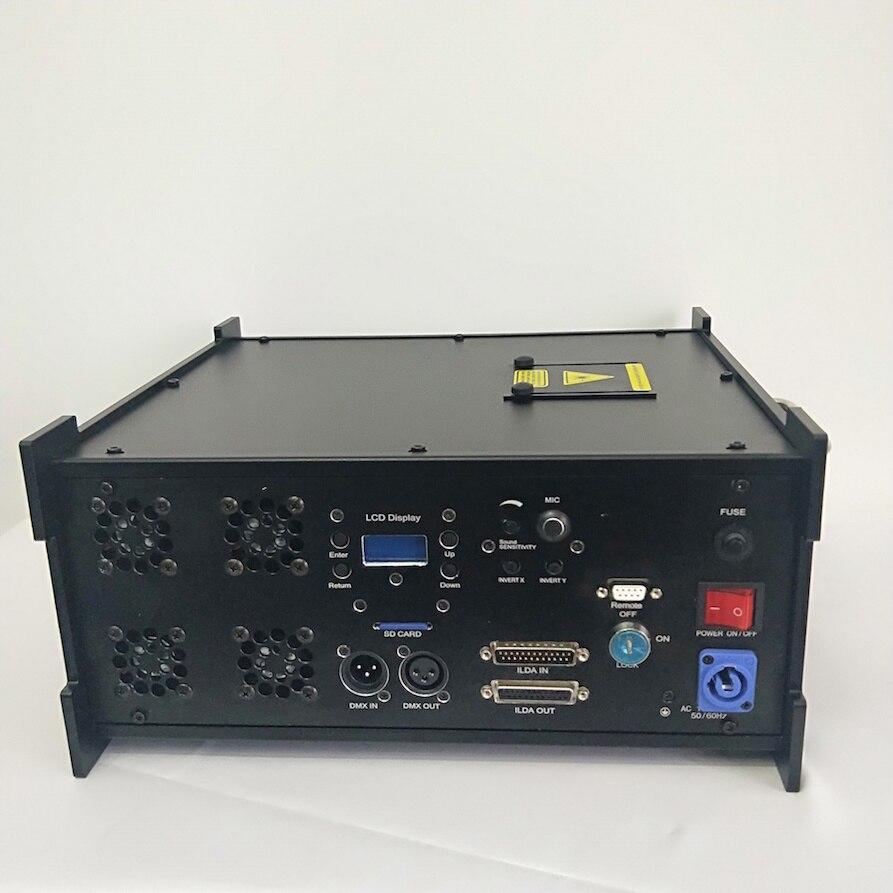 Flightcase+Laser Man Light RGB 10w Laser Dance System 10watt Multi Color Laser Man Show Projector DMX Disco Lights Sd ILDA Dmx