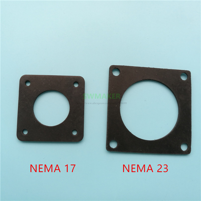 2pcs Anti Vibration Rubber Damper Instead Of Cork Nema 17/23 Stepper Motor Damper Isolator 2mm Thickness For Cnc 3d Printer Durable Modeling