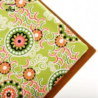 Cotton Fabrics Quilting For Fat Quarters Needlework Material For Dolls Craft Cloth Cushion For Pattern Green