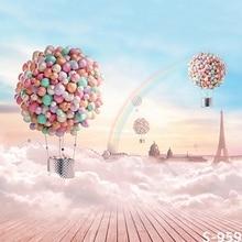 아기 / 어린이 사진 배경 판타지 풍선 레인보우 푸른 하늘 패턴 배경 비닐 사진 독특한 디자인 사진 배경