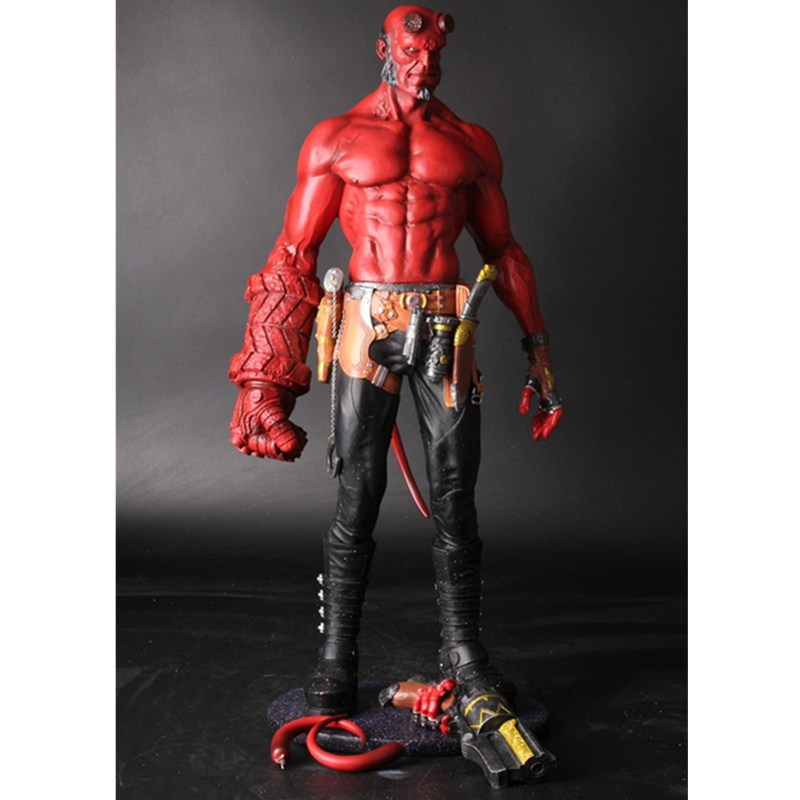 Movie HB Hellboy Series Smoking With Includes Samaritan Handgun Cartoon Toy PVC Action Figure Model Doll