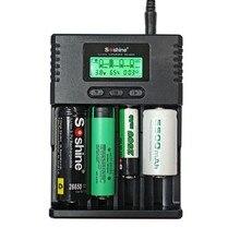 100% Original Soshine H2 H4 Thông Minh Lithium LCD Charger Cho 18650 26650 16340 Li Ion/AA AAA Ni Mh/LiFePO4 9 V Pin Haiyan