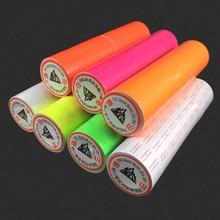 Лидер продаж 10 рулонов за баррель 5000 шт. красочные клей ценники Бумага тег знак Стикеры для MX-5500 цена Gun Labeller