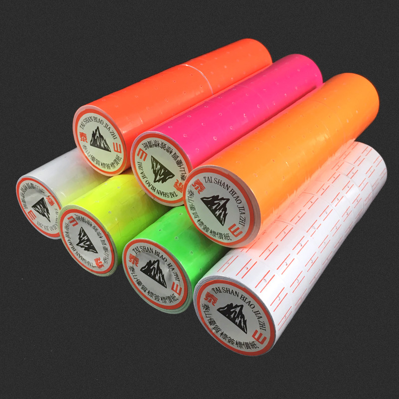 Hot Sale 10 Rolls A Barrel 5000pcs Colorful Adhesive Price Labels Paper Tag Mark Sticker For MX-5500 Price Gun Labeller