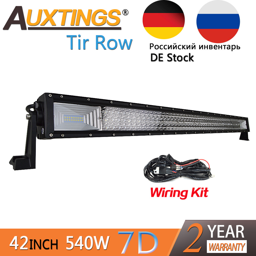 "Здесь можно купить   Auxtings NEW item 42 "" Inch 540w tri rows movable bracket IP67 waterproof high power high lumens car 7D LED light bar offroad   Автомобили и Мотоциклы"