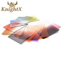 KnightX Квадратных фото ND цветовой Фильтр Окончил Cokin P Серии установить для nikon canon d5100 d5200 d3200 d3100 d3300 1200d 5D 6D 7D