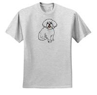 Gildan Dooni Designs Retro Style Cartoons Cute Retro Style Cartoon Maltese Puppy Dog Pet Animal Design
