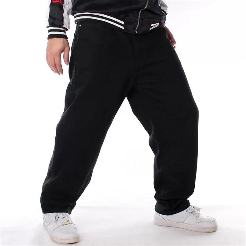 Hip Hop Skateboarder Loose Fit Baggy   Jeans   Wide Leg Denim Pants Streetwear Free Shipping