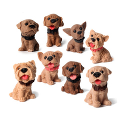 Nicole Silicone savon moule Mini 3D beaux chiens formes pour la fabrication de savon à la main moule